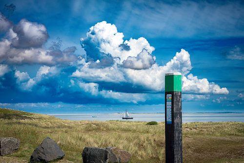 De zeestraat tussen Texel en Vlieland