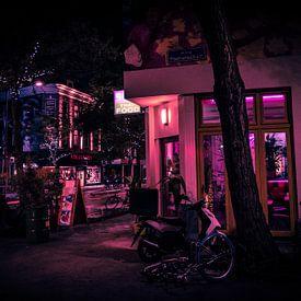 Rotterdam Neon Light by night van Maurice Verschuur