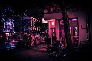 Rotterdam Neon Light by night sur Maurice Verschuur