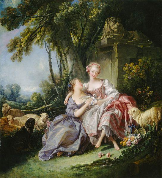 Liebesbrief, François Boucher, 1750 von Atelier Liesjes