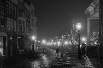Winternacht in Leiden von Bas Schneider