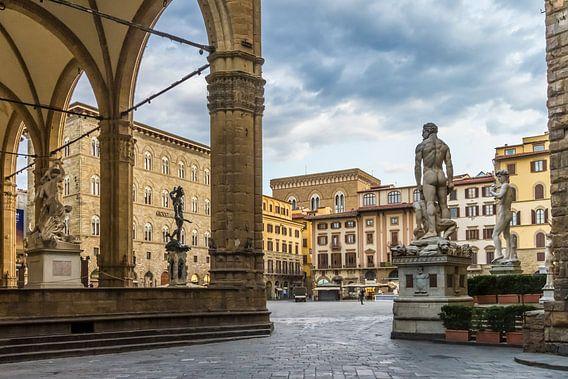 FLORENCE Piazza della Signoria van Melanie Viola