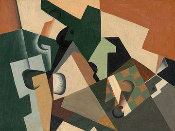Glas und Schachbrett, Juan Gris