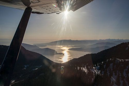 Uitzicht vanuit een vliegtuig
