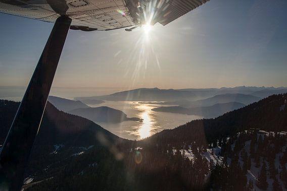 Uitzicht vanuit een vliegtuig van Irene Hoekstra