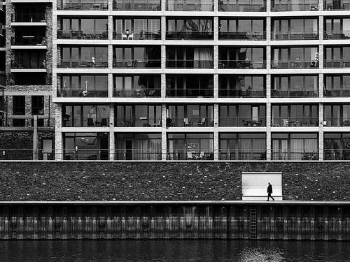 Zwart-wit straatfoto Nijmegen