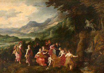 Besuch von Minerva bei den Musen, Hendrick van Balen, Joos de Momper, Jan Brueghel der Ältere