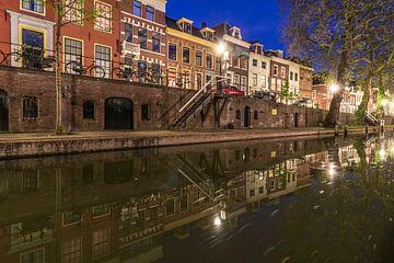 Nieuwegracht met Quintijnsgasthuis, Utrecht. van André Russcher
