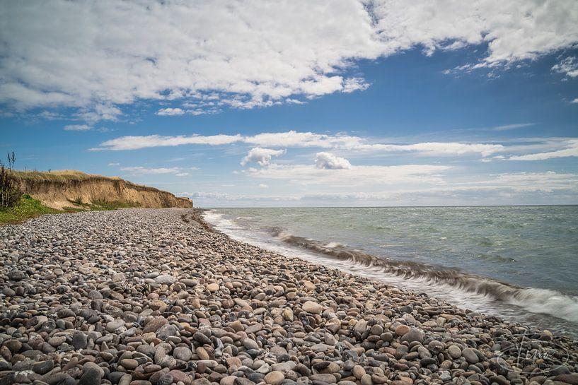 La plage de galets de Langeland sur Tina Linssen