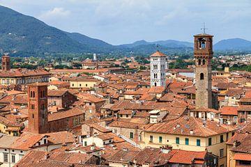 Lucca skyline van Dennis van de Water