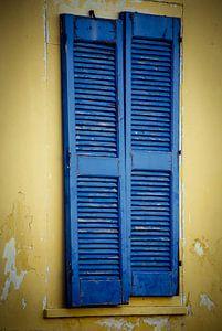 Blue old door;Bleu virile porte; Bleu vieille porte;Bleu vieille porte van