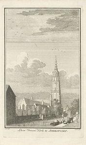 Gezicht op Onze-Lieve-Vrouwekerk te Amersfoort, Caspar Jacobsz. Philips