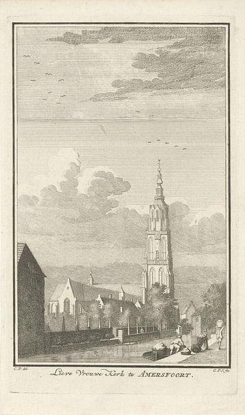 Gezicht op Onze-Lieve-Vrouwekerk te Amersfoort, Caspar Jacobsz. Philips van Marieke de Koning