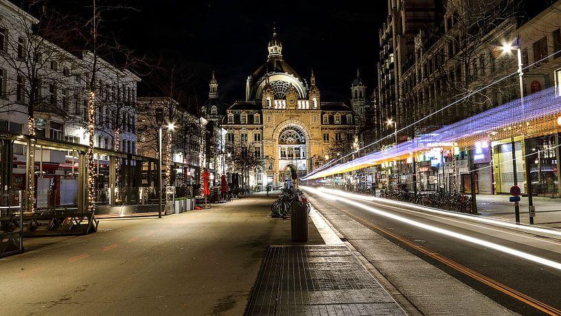 Blick auf den Antwerpener Hauptbahnhof von Ronny Struyf
