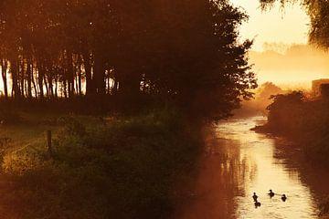 Het gouden uur... op de rivier von Maarten Honinx
