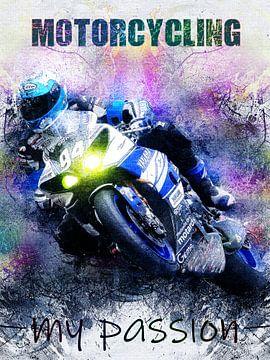 motorfiets van Printed Artings