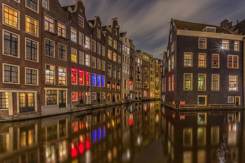 Oudezijds Voorburgwal en Zeedijk in Amsterdam - 1 van Tux Photography