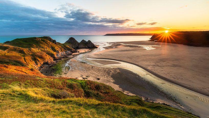 Coucher de soleil au Pays de Galles sur Daniela Beyer
