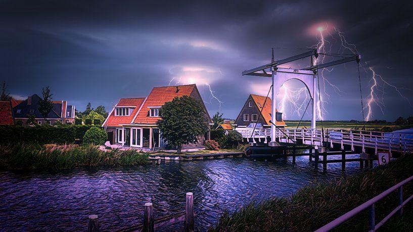 Schilfrohrfinkenbrücke Katwoude von Digital Art Nederland