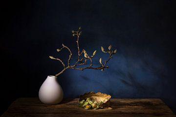 Magnolientraum .Stillleben mit Magnolie und Kap-Goldbeere von Saskia Dingemans
