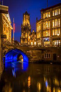 Utrecht in de avond van