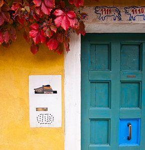 Venetië - Gekleurde huis  van Michelle Rook