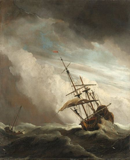 Willem van de Velde. De windstoot  van 1000 Schilderijen