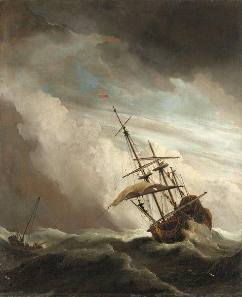 Willem van de Velde. De windstoot