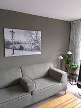 Klantfoto: De vijver in Rotterdam Kralingen vanaf de Vijverweg van MS Fotografie | Marc van der Stelt, op aluminium