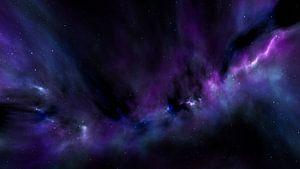 Space Art Galaxie mit Nebel im Weltraum von Markus Gann