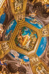 Gemälde an der Decke des Vatikanischen Museums in Rom