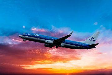 KLM Boeing 737-800, PH-BCE, in take off. von Gert Hilbink