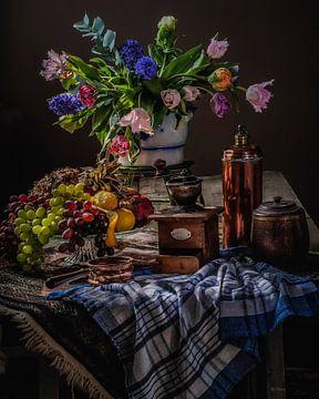 Modernes niederländisches Stilleben Tulpen alte Meister von ina kleiman