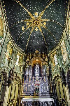 De kathedraal van Barfleur, Normandië, Frankrijk. van
