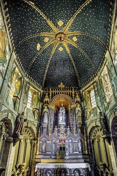 De kathedraal van Barfleur, Normandië, Frankrijk. van Harrie Muis