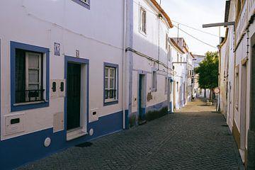 Blaue Häuser in Arraiolos, Alentejo von Michiel Dros