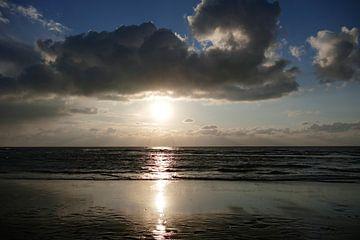 Abendstimmung am Strand von Texel van