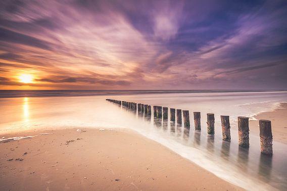 Long exposure at the beach