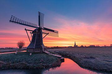 Sonnenaufgang hinter der Windmühle von Timothy Ricketts