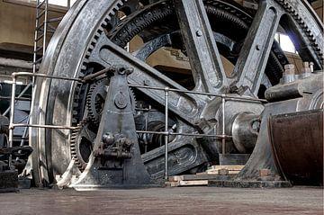 Teil einer Dampfmaschine Oisterwijk von Henk Elshout
