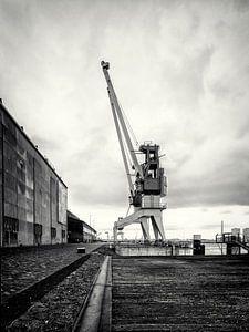 Havenkraan op het voormalige RDM-terrein Heijplaat Rotterdam