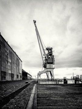 Hafenkran auf dem ehemaligen RDM-Gelände Heijplaat Rotterdam von Rick van der Poorten