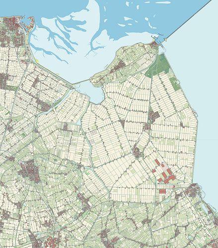 Kaart vanHollands Kroon