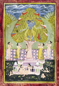 Krishna stiehlt die Kleider der Gopis (1780) von Atelier Liesjes