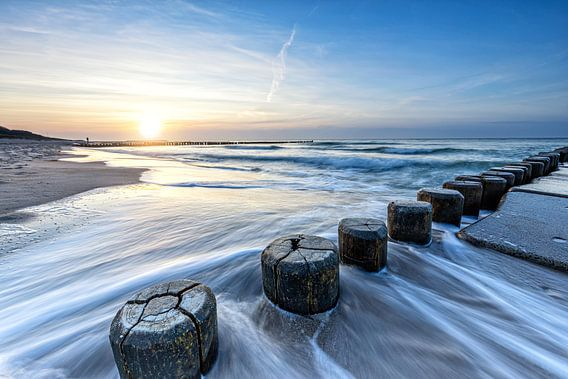 Strand von Ahrenshoop zum Sonnenuntergang