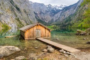 Hut at the Obersee (Koenigssee) in Bavaria