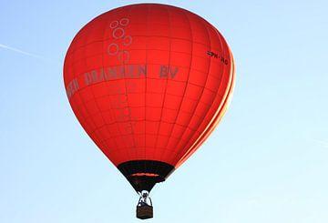 Rode luchtballon van