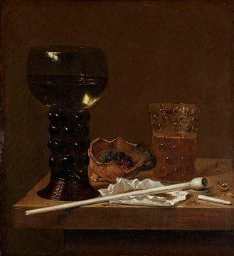 Stilleben mit Römer, Bierglas und einer Pfeife, Jan Jansz. van de Velde (III)