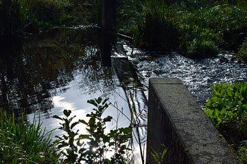 """stuw in het water van Janny Schilderink......Atelier """"de Tuute """""""