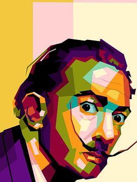 Salvador Dali in wpap van miru arts